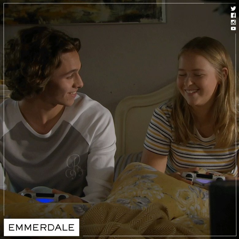 So nice to see Liv putting a smile on Jacob's face again ☺️ #Emmerdale