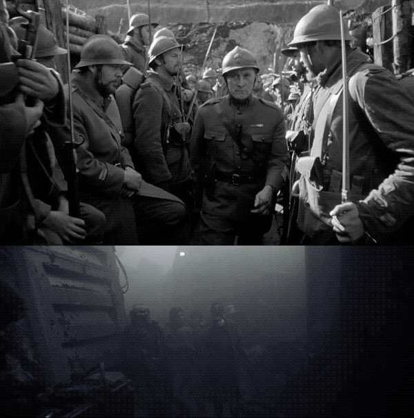 Did you know? Han and Beckett's walk through the trenches of Mimban in Solo was inspired by a sequence in Stanley Kubrick's 1957 film Paths of Glory