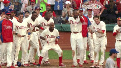 Jimmy Rollins' pure positivity in the booth was much needed this series.   He still believes in our guys, and we should too. Love that man.   #RingTheBell #Phillies