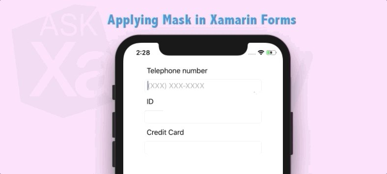 Applying Mask in #XamarinForms https://t.co/SD4PcopASZ by @LeomarisReyes11 #Xamarin #ios #Android #Csharp #mobiledev https://t.co/x9Xa1ioGGW