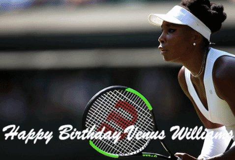 Happy Birthday to a true champion!  Tennis star Venus Williams turns 39 today.