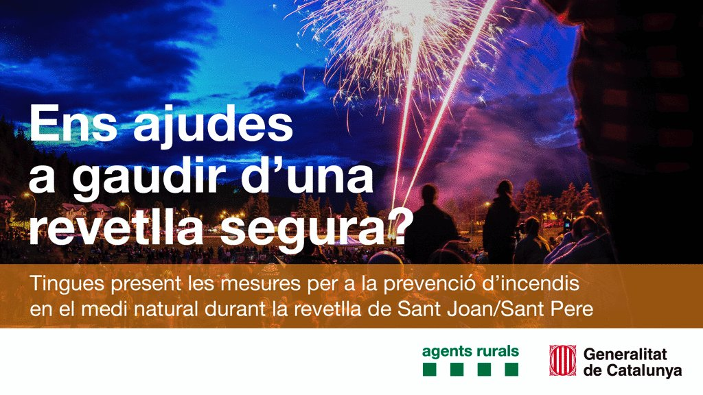 Image for the Tweet beginning: ⚠️🎆🔥Ens ajudeu a tenir una