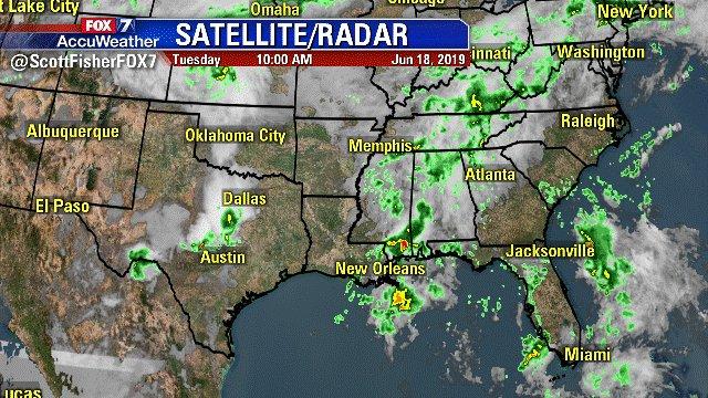 Scott Fisher Says: Up-To-Date Weather Info! Here's The Latest Regional Satellite & Radar. #Austin #Texas #Weather.