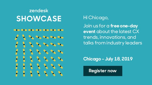 #ZendeskShowcase Chicago will feature stories from innovative brands like @RXBAR, @groomsmansuit, and @trane.Register for free and join us on July 18th: https://zdsk.co/ShowcaseChicago
