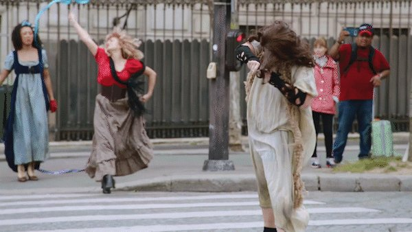 """.@JKCorden brought """"Les Mis"""" to a Paris crosswalk and it was, as the French say, """"très extra.""""   Les Misérable #CrosswalkTheMusical: http://youtu.be/dF495ERjRUo  #LateLateLondon"""