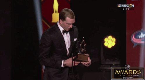 Vasilevskiy is the Vezina Trophy winner! #NHLAwards