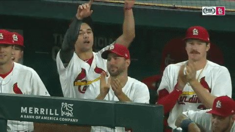 Runner at third with noooooooobody out and the #STLCards have a chance to walk it off! #TimeToFly