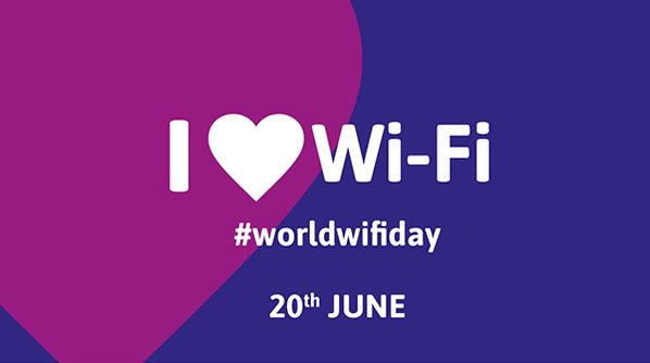 Image for the Tweet beginning: Celebrating #WorldWiFiDay and #20yearsOfWiFi!