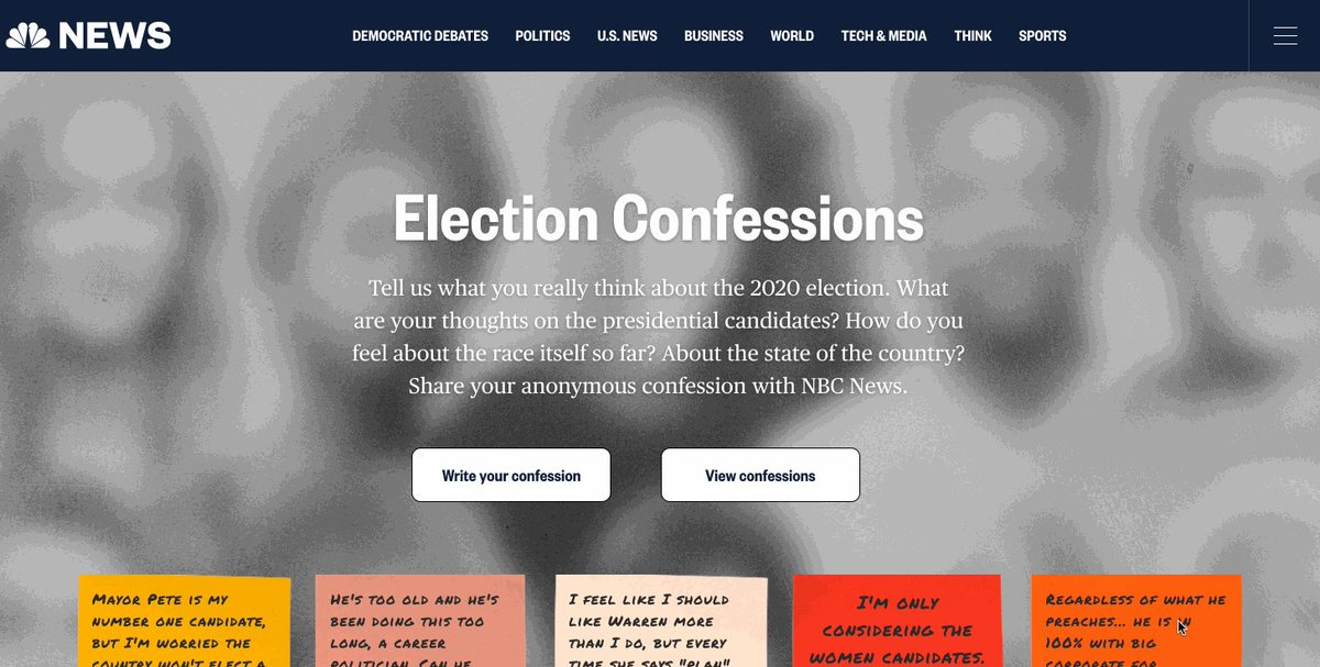 #ElectionConfessions are back for the 2020 Election.  What are your thoughts on the presidential candidates? How do you feel about the state of our country?  Share your candid confessions at http://ElectionConfessions.com  now.