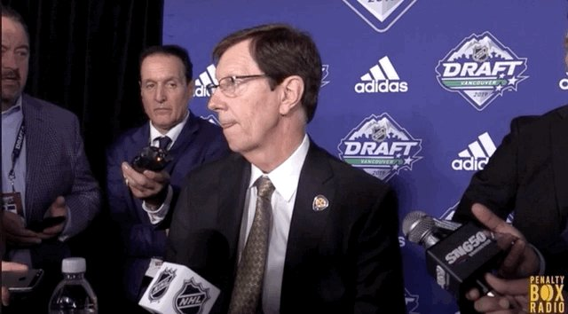 When @PierreVLeBrun broke the news to David Poile about the cap being set immediately following the draft.
