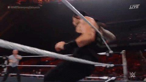 Big Dog. Big Leap. Big Fight.   #WWEStompingGrounds @WWERomanReigns @DMcIntyreWWE @shanemcmahon