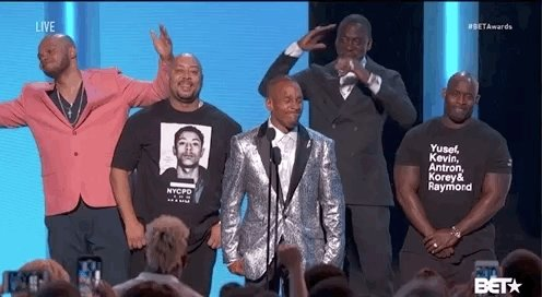 THE EXONERATED FIVE at the #BETAwards