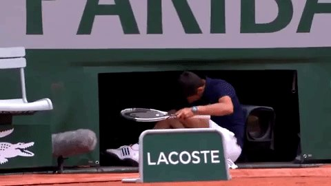 When it's Roland Garros and you see Nadal on your side of the draw for the 156th consecutive tournament. #sigh https://t.co/qtmNRpiw2r