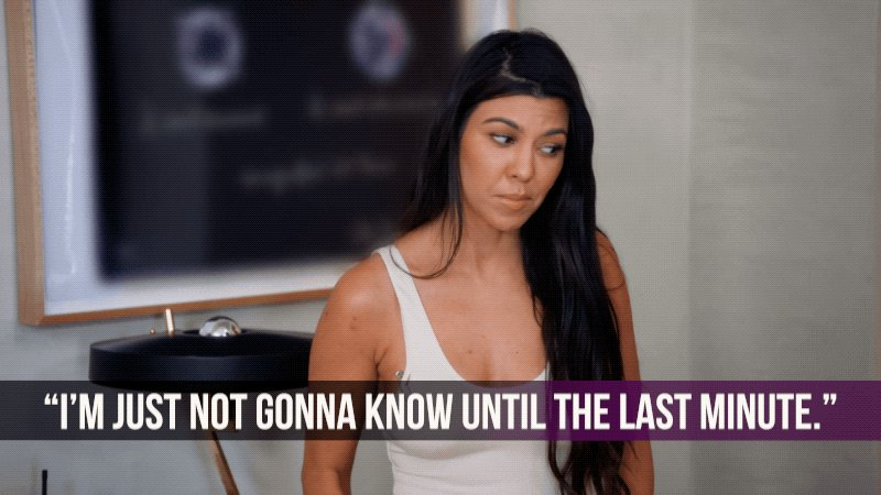 RT if procrastination kween @KourtneyKardash if def your spirit animal...