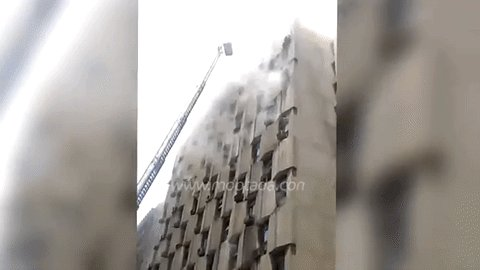 V : A massive fire broke out in a government building in central Cairo