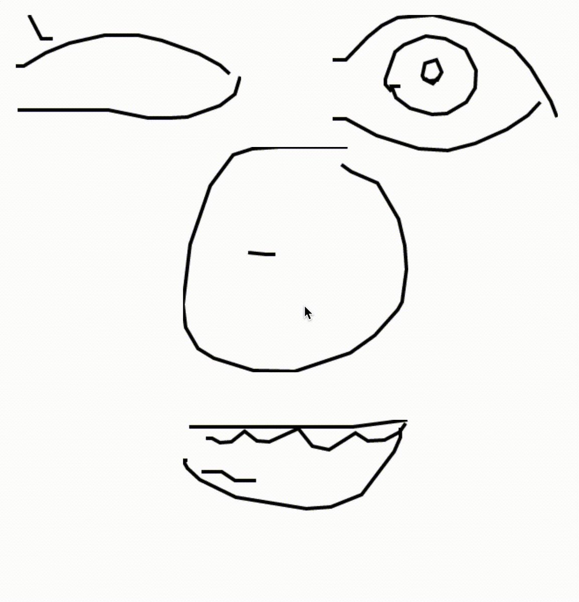 Generating faces with quickdraw.withgoogle.com/data