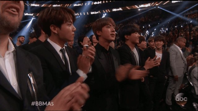 We get SO happy every time the #BBMAs show @bts_bighit in the audience!