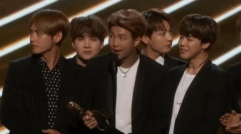 So awesome, first K-pop group to win a #BBMAs! Major congrats @BTS_twt!!! Well deserved