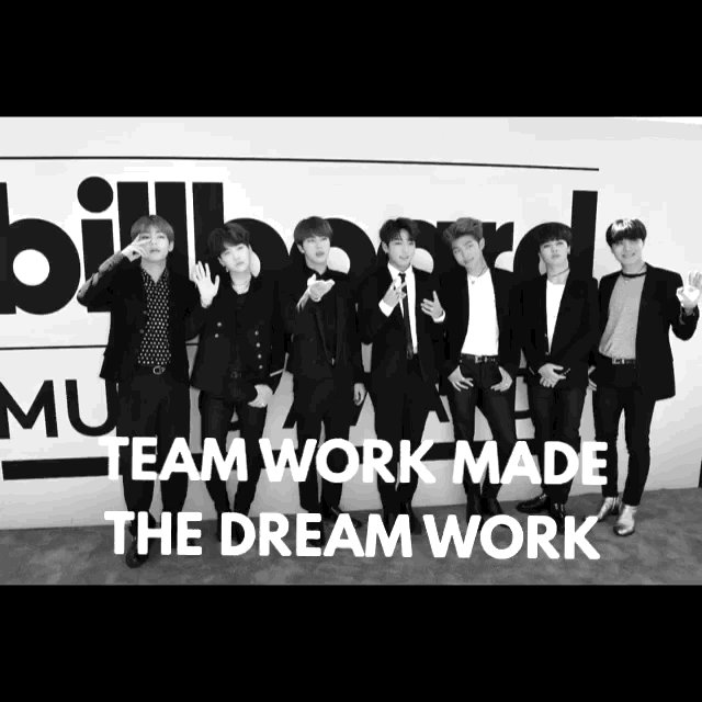 Teamwork Made The Dream Work Congrats to @BTS_twt making History at the Billboard Music Awards 2017 https://t.co/dx35ZvJqNA