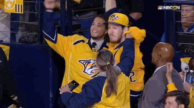 No, you're crying. Injured #Preds Kevin Fiala and Ryan Johansen pump u...