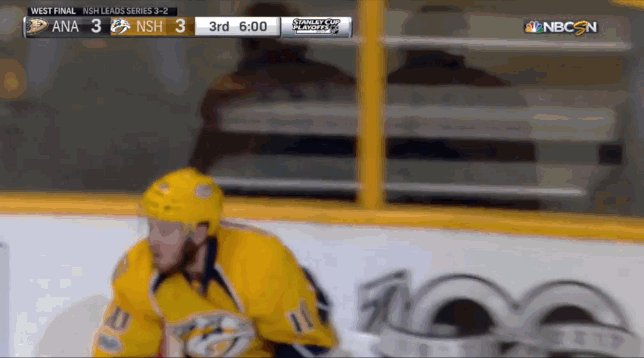 Hat trick for Colton Sissons, he doesn't know what to do. #Preds #ANAv...