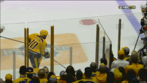 Colton Sissons' third goal of the game gives the Predators a 4-3 lead...