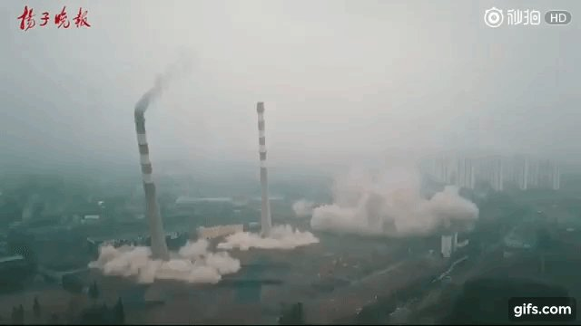 Crashing Down: Spectacular power plant implosion (VIDEO) https://t.co/W3efz7HKhO
