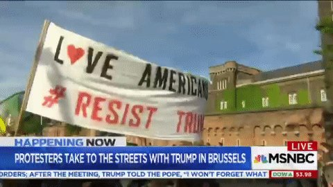 """RT @kylegriffin1: Thousands march against Trump in Brussels: """"He is not welcome here"""" https://t.co/ny0W6eR0P1 https://t.co/zZfNhsISGd"""