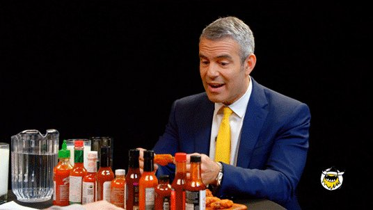 Watch @Bravotv's @Andy Cohen suffer through the #HotOnes challenge: https://t.co/wiCI0iruqq