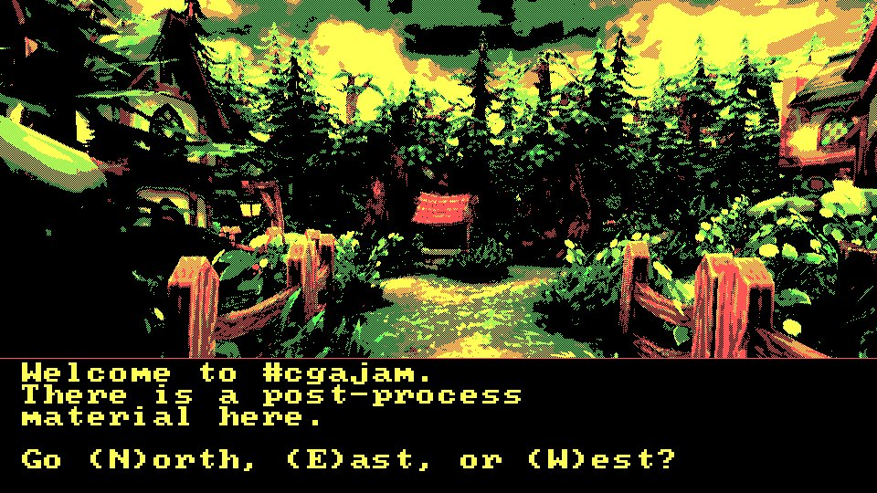 Download CGA post-processing template https://t.co/7HaoAGClwF (CC0), made in @UnrealEngine #cgajam