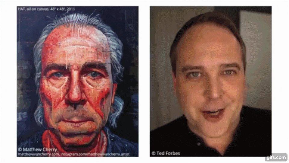 チェコ工科大学、動く人の顔にデッサン風、銅像風、油絵風といったフィルターに合成させフェイシャル・アニメーションを完成させるAIアルゴリズムを発表