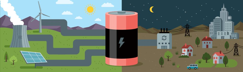 What if you need a battery? A really big one — big enough to run a city?