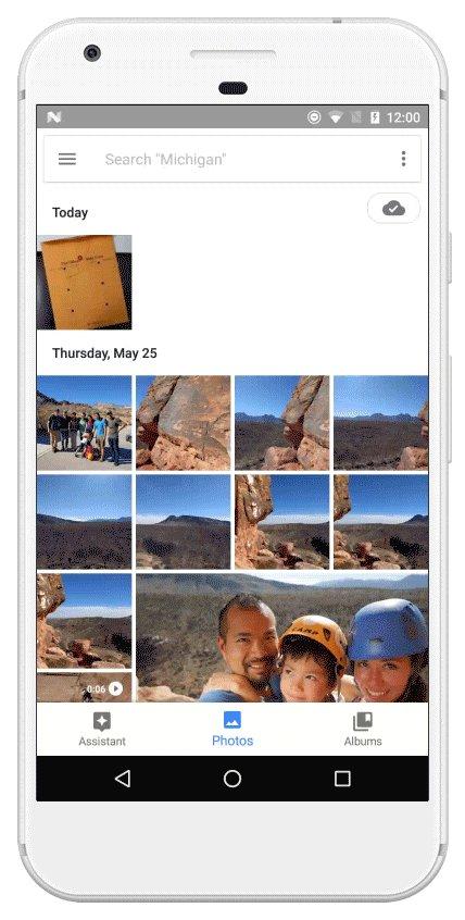 "#GooglePhotos ให้คุณแยกภาพใส่ในที่จัดเก็บเฉพาะได้ทุกเวลา ง่ายๆ เพียงเลือกภาพที่ต้องการ และกดเลือกเมนู ""Archive"""