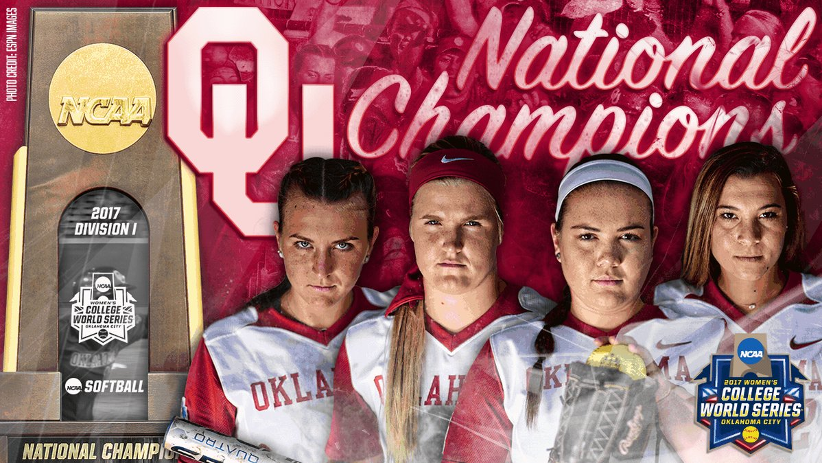 BACK-TO-BACK BOOMER❗️ @OU_Softball repeats as National Champions! #WCWS https://t.co/heP8jPdlkV