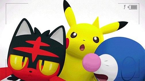 Pikachu, Popplio, Litten, and Rowlet are ready for #NationalSelfieDay!...