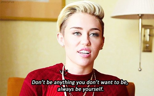 Some #WednesdayWisdom from @MileyCyrus 💟 https://t.co/Xw1Zeab6E3