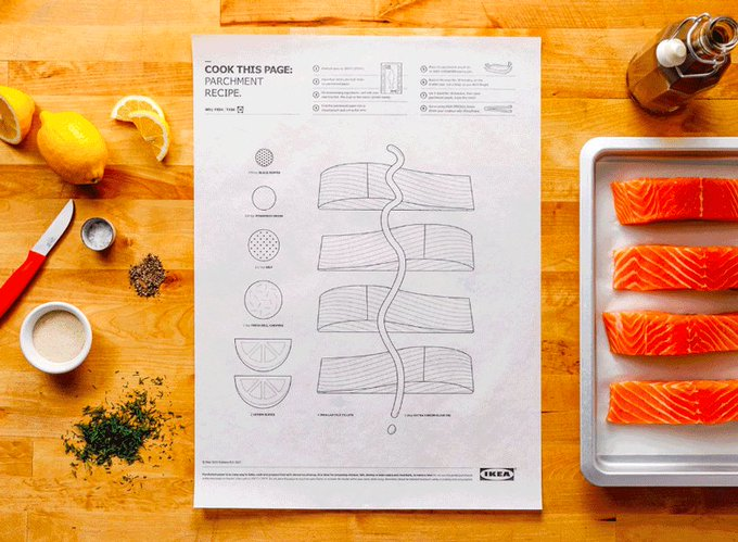 IKEA cooks up illustrated, interactive recipes that you can roll, bake, and eat