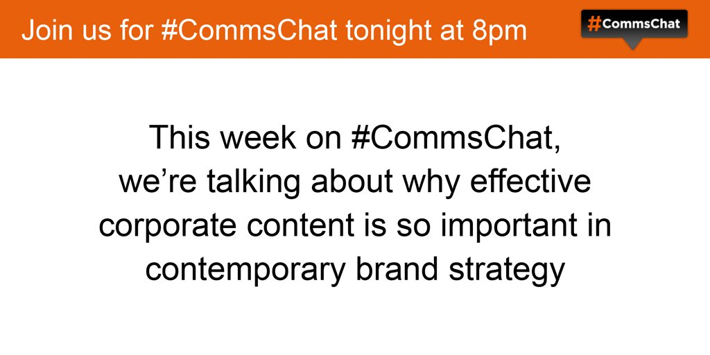 Thumbnail for #CommsChat on delivering corporate content