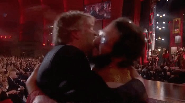 I'm just gonna watch this gif of @dave_malloy & @joshgroban all day ❤