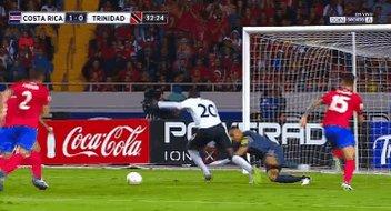 Keylor Superman Navas last night against Trinidad and Tobago