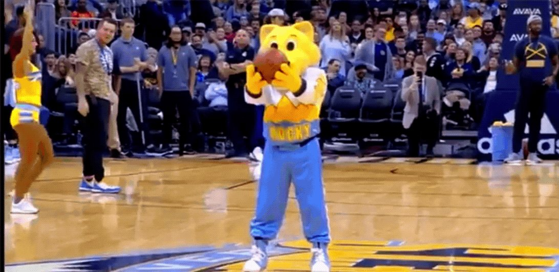 When you're a SuperMascot hitting shots like this is just business as usual. 😏 #NationalMascotDay