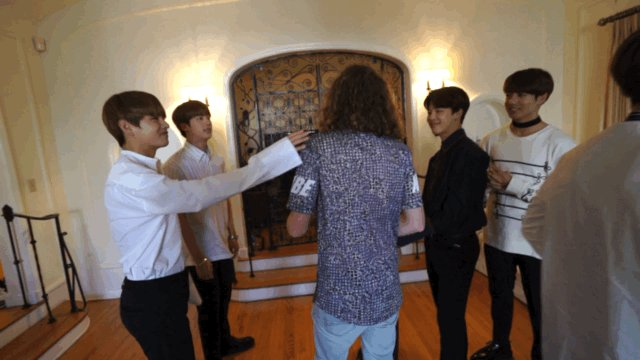 Let me take you behind the scenes of my @BTS_twt/@bts_bighit interview... https://t.co/GimgssUS8i https://t.co/QgIHyZdH8y