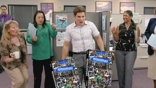 The complete series of Workaholics is now available on DVD. (Yeah, it'...