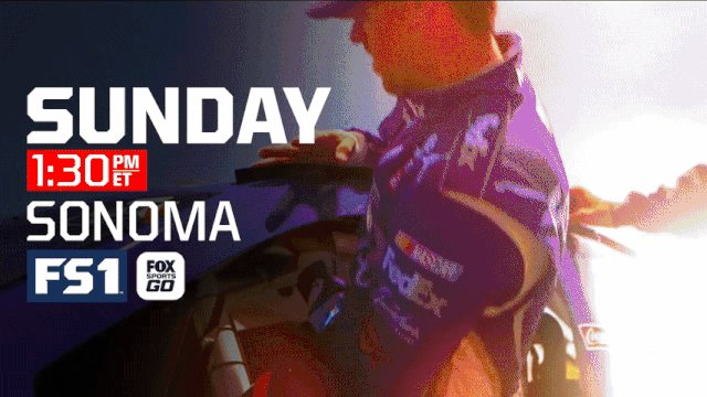 .@RaceSonoma: Sunday at 1:30p ET on @FS1 and https://t.co/2Jj71p3agm....