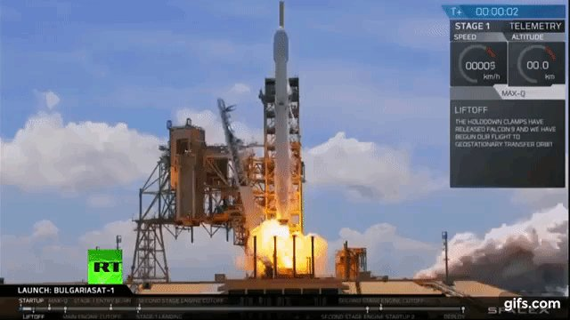 #SpaceX launches Bulgarian satellite on second-ever recycled rocket ht...