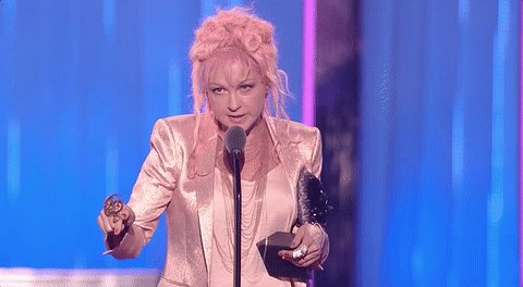 Thank you @cyndilauper for all of your work to make the world a better...