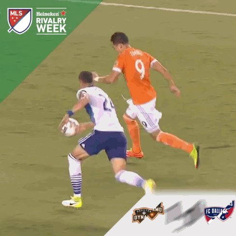 HT: Cubo's 11th strike of the season has @HoustonDynamo on top. #Texas...
