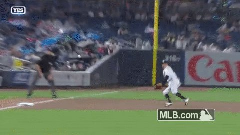 Ronald Torreyes out here making plays LEFT & RIGHT 😱  #YANKSonYES...