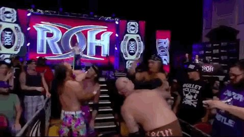 Chuckie T just cleared the entrance stairs! #ROHBITW https://t.co/tFSf...