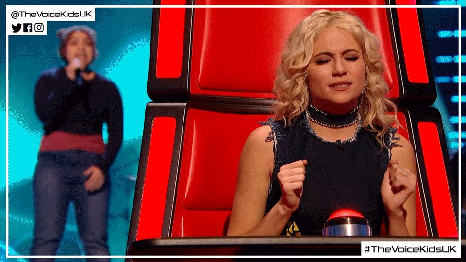 Sometimes you can't help but sing along, right @PixieLott? #TheVoiceKi...